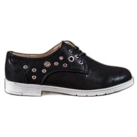 SHELOVET zwart Gebonden schoenen met eco-leer