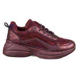 SHELOVET rood Glanzende sportschoenen