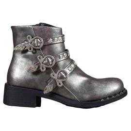 Forever Folie Laarzen Met Studs grijs