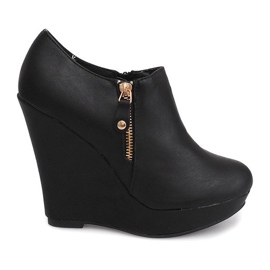 Wedges Laarzen Wedge B160 Zwart