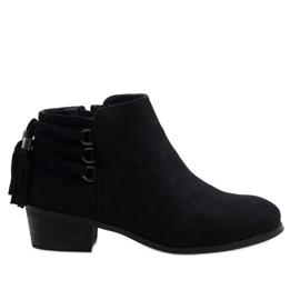 Gemre Zwarte suède geïsoleerde laarzen SJ1819-1