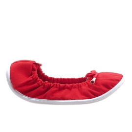 Gemre rood Klassieke ballerina's VB1 blauw