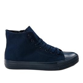 Gemre marine Donkerblauwe hoge sneakers voor heren XN50