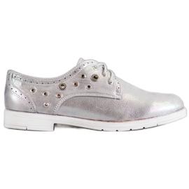 SHELOVET grijs Gebonden schoenen met eco-leer