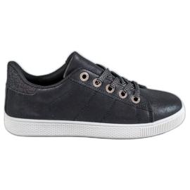 SHELOVET zwart Sneakers met brokaat