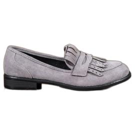 SHELOVET grijs Loafers met franjes