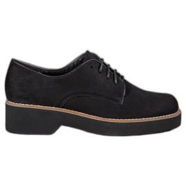SHELOVET Zwarte Suède schoenen