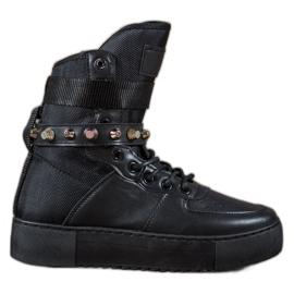 Diamantique Hoge zwarte laarzen