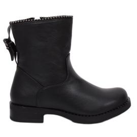 Militaire zwarte laarzen JY705 Zwart
