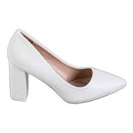 Diamantique Witte pumps