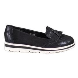 Bestelle zwart Loafers voor platforms