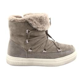American Club bruin Taupe Eskimo-laarzen