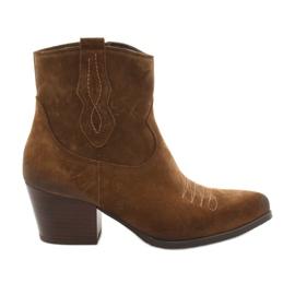 Gamis 3837 suède cowboylaarzen bruin