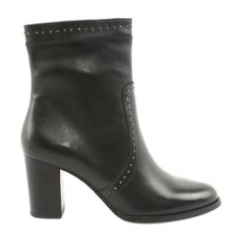 Caprice zwart Hoge laarzen met jets