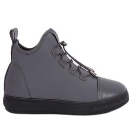 Grijs Geïsoleerde grijze neopreen sneakers XY-35 Gray