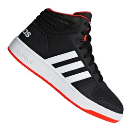 Zwart Adidas Hoops Mid 2.0 K Jr B75743 schoenen
