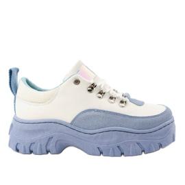 Witte en blauwe PF5329 damessportschoenen