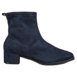 Small Swan Slip-on Suede Boots blauw