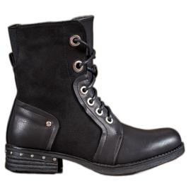 Seastar zwart Laarzen op platte hak