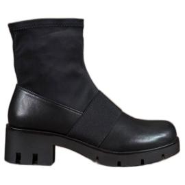 Filippo Zwarte laarzen op het platform