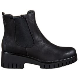 Filippo zwart Jodhpur laarzen op hoge hakken