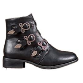 Anesia Paris Zwarte laarzen met gespen