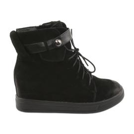 Daszyński Zwarte sneakers met rits 143