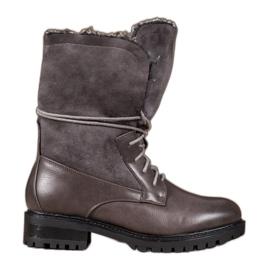 Seastar Laarzen met een oprolbaar bovenwerk grijs