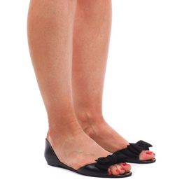 Meliski KM01 zwarte sandalen