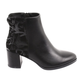 Stijlvolle laarzen op de post zwart Sergio Leone 521