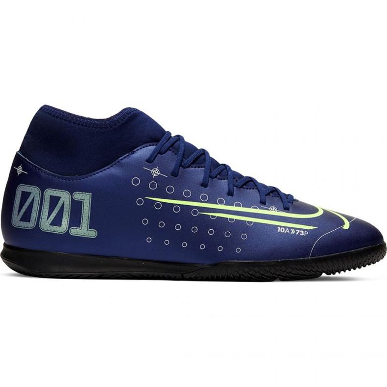 Nike Mercurial Superfly 7 Club Mds Ic Jr BQ5417-401 indoorschoenen marine marineblauw