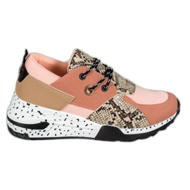 Snake Print VICES sneakers roze