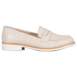 VICES beige mocassins bruin