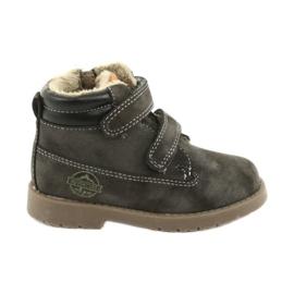 Timberki-laarzen met klittenband American Club GC43 grijs