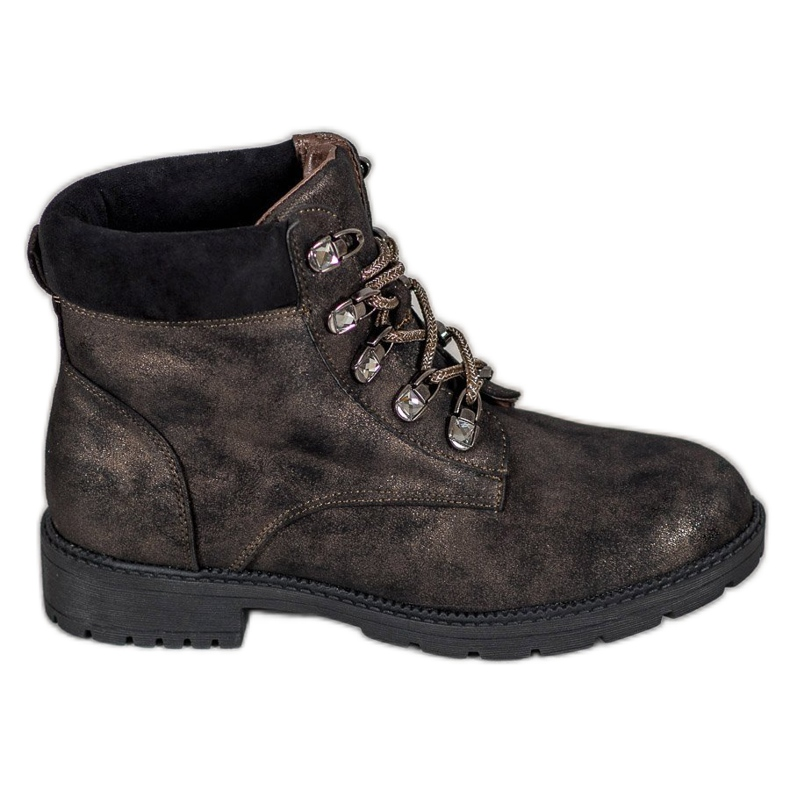 Laarzen met glitter VICES bruin