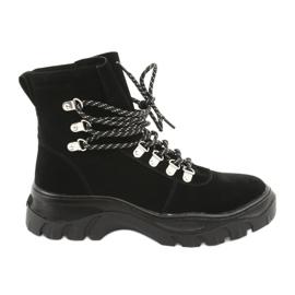 Gebonden zwarte trapeze schoenen Sergio Leone 729