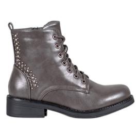 SHELOVET Laarzen Met Steentjes grijs