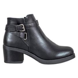 Anesia Paris Boots On A Bar zwart