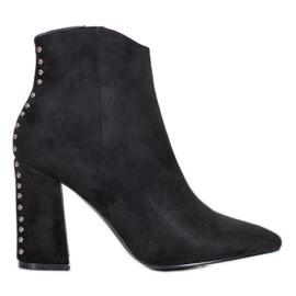 Seastar Sexy laarzen met strass zwart