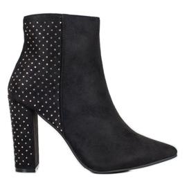 Seastar Suède laarzen met zirconia zwart