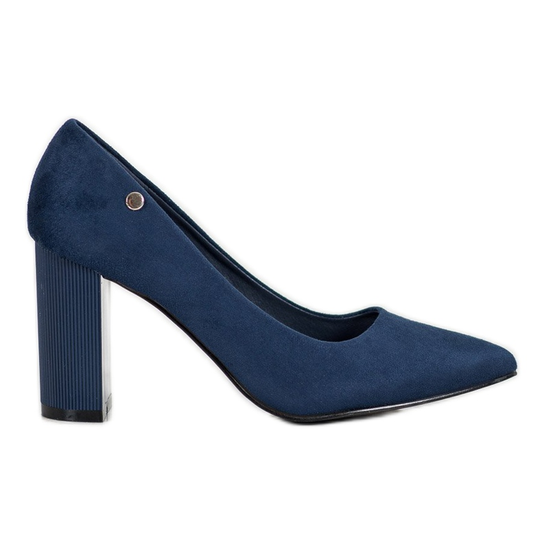 Goodin Suede Pumps On A Bar blauw