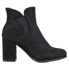 Marquiz Slip-on Suede Boots zwart