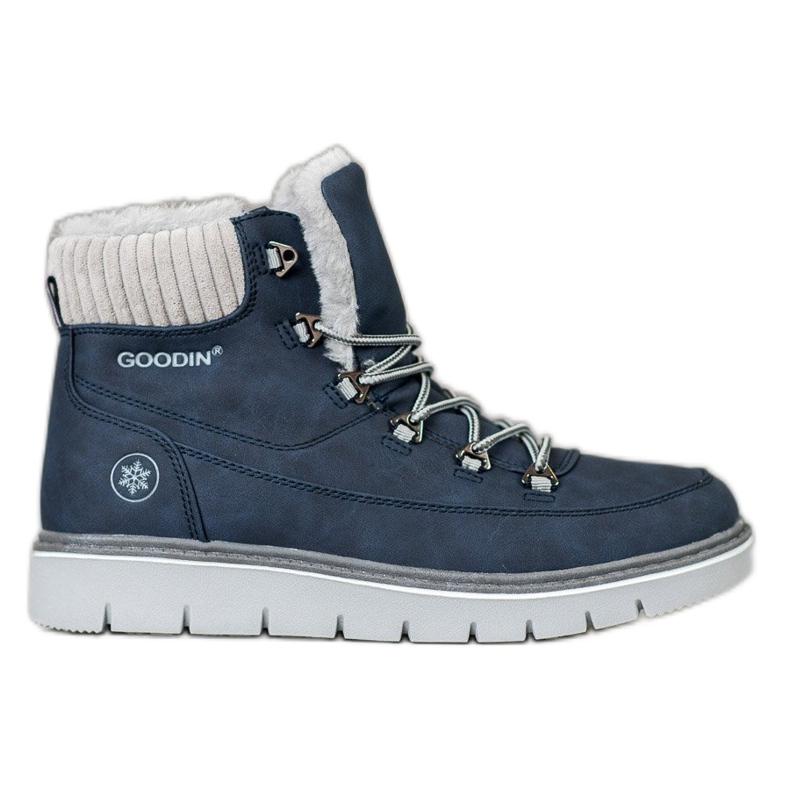 Goodin Trappers op het platform blauw