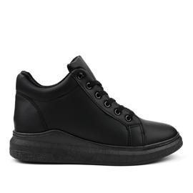Geïsoleerde zwarte sneakers TL133-1
