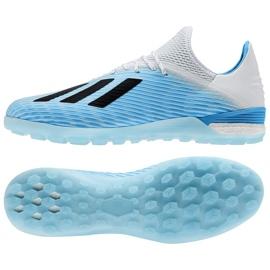 Adidas X 19.1 Tf M F99999 voetbalschoenen blauw wit