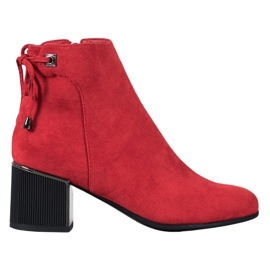 Goodin Rode suede laarzen rood