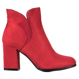 Marquiz Slip-on Suede Boots rood