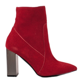 Goodin Sexy lederen laarzen rood