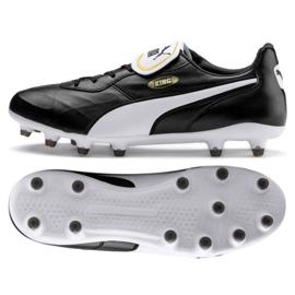 Puma King Top Fg M 105607 01 voetbalschoenen zwart zwart
