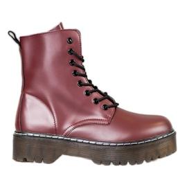 Kylie Platform schoenen rood